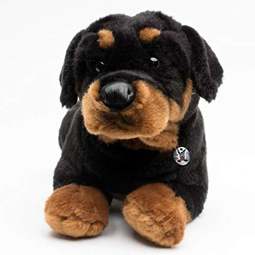 Kuscheltiere.biz Rottweiler ENZO liegend 30 cm Plüschtier Plüschrotti Plüschhund Hund -