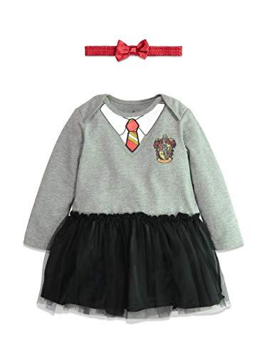 Kleinkind Für Potter Kostüm Harry - Warner Bros. Harry Potter Mädchen Kapuzen-Kostüm Rüschen Kleid mit Umhang 4 Jahre Baby Bodysuit with Headband