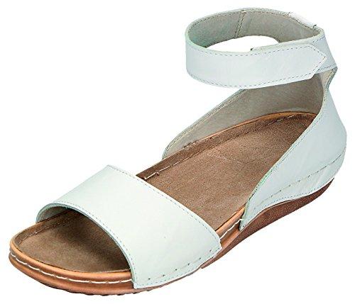 MICCOS Shoes–Sandales Femme Pantolette D. Sandales Blanc - Blanc