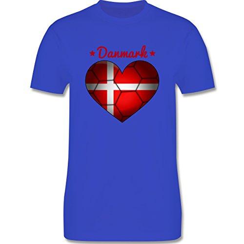 Handball - Handballherz Dänemark - Herren Premium T-Shirt Royalblau
