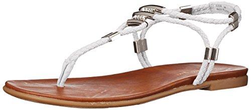 Madden Girl Flexii Flat Sandal White Fabric