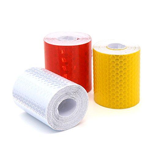 Preisvergleich Produktbild YIAN 3 Rolle Reflektorband Klebeband für Sicherheit Warnklebeband Sicherheit Markierung Band 5cm x 3m