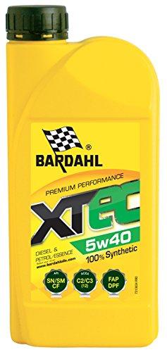 HUILE MOTEUR BARDAHL XTEC 5W40 100% Synthétique – Essence & Diesel 1L pas cher