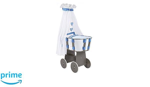 Baby stubenwagen rattan mit holzräder in nordrhein westfalen