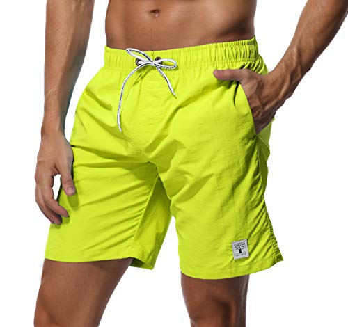 SHEKINI Herren Badehose Beach Shorts Einfarbig Board Shorts Swimming Trunks (28, Geld)