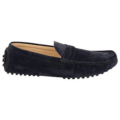 Shoes Click , Mocassins homme Bleu - Bleu marine