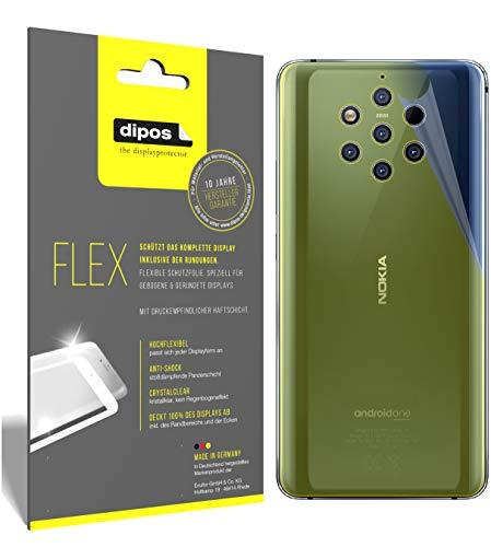 dipos I 3X Schutzfolie 100% passend für Nokia 9 PureView Rückseite Folie (Vollständige Displayabdeckung) Displayschutzfolie