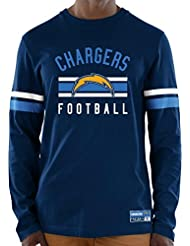 """Los Angeles Chargers Majestic NFL """"Full Strike"""" Men's Long Sleeve Crew shirt Chemise"""