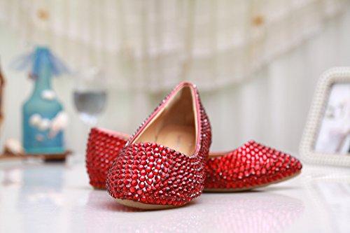 Kevin Fashion , Ballet femme Red/Crystal