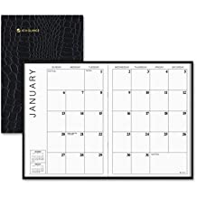 At-A-Glance Products - Monthly Planner, 13 Month, 7x10, Past/Future Reference, Bk - Sold as 1 EA - Monthly Designer Planner adds styling to 13 months of scheduling with rich gilt edges. Two-page-per-month spread includes daily unlined blocks, a notes area for general reminders and past and future months reference. Ranges 12 months from January to January. by At-A-Glance