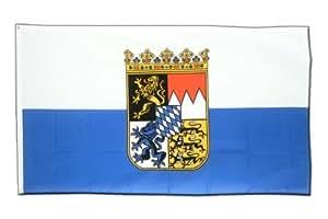 Deutschland Bayern Dienstflagge Flagge, bayerische Fahne 90 x 150 cm, MaxFlags®
