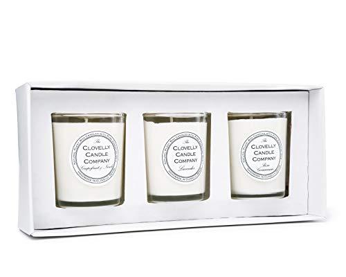 The Clovelly Soap Co Bougies Parfumées aux Fleurs | Pack de 3 Bougies |40 Heures de Parfum | Fabriqué à la Main au Royaume-Uni avec des Produits 100% Naturel | Détente, Confort et Relaxation