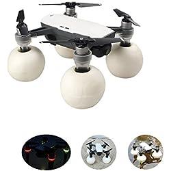 Hensych Float Balls Kit avec des Jambes de Train d'atterrissage Landing Gear pour DJI Spark Drone - Surface de Neige d'eau Décollage / Atterrissage (Transparent)