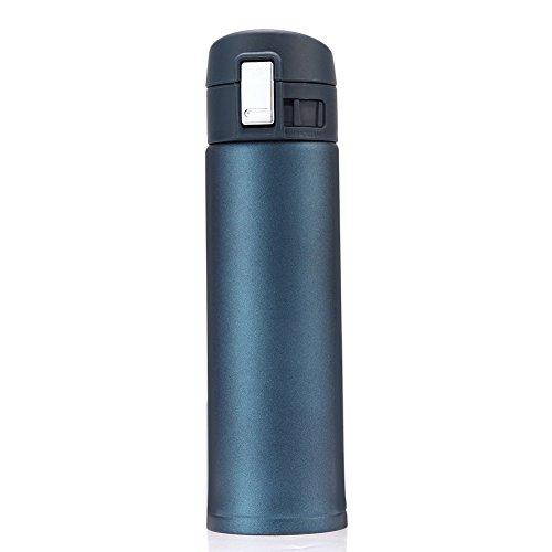 GYOYO 500ml Isolierbecher aus Edelstahl Thermobecher Auslaufsicher Kaffebecher Reisebecher BPA frei Einhand-Verschluss 420ml für Bahnfahrt, Autofahrt, im Flugzeug usw