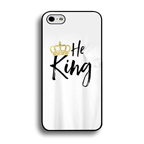 Personality King and Queen Couple Call Phone Case Hard Plastic Thin Back Covers for Iphone 8 Luxury Crown Slim Phone Case Color955d