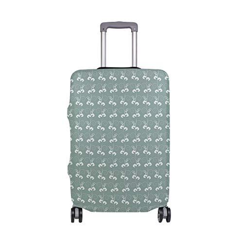 SUHETI Stampa autentica vittoriana verde,Suitcase Cover Proteggi bagagli luggage Cover,Pop Gatto (M 22-24 in)