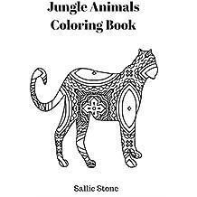 Jungle Animals Coloring Book (English Edition)