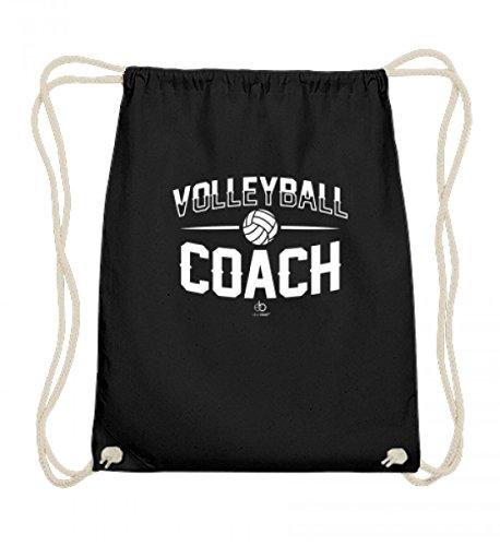 EBENBLATT Volleyball Coach Team Trainer Player Sport Volleyballmannschaft Mannschaft Fan Geschenk - Baumwoll Gymsac