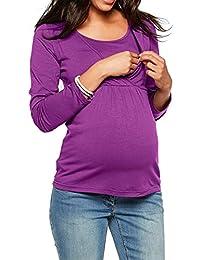 Huateng Frauen Schwangere Rundhals Pflege Langarmshirts