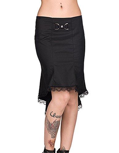 Black Pistol Damen Gothic Vokuhila Rock - Wave Skirt Denim XXL (Denim-bleistift-rock Bleistift)