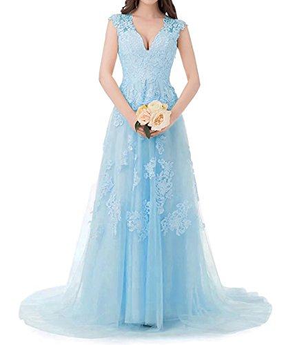 Lilybridal Spitze Brautkleider Hochzeits Abend Ball Abiball Abschlussball Brautjungfern Kleider 117