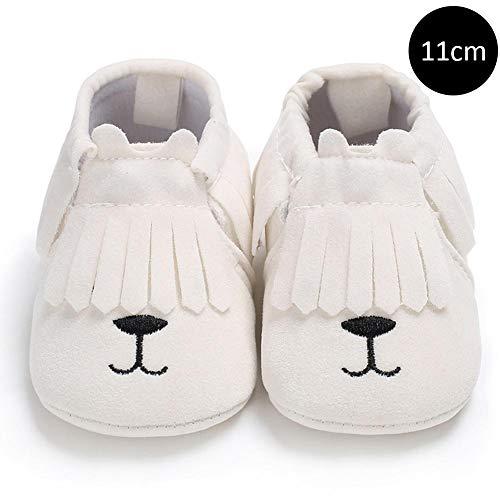 DRAULIC Kleinkindschuhe Prewalker Rutschfeste Schuhe 0-1 Jahre altes Baby Jungen und Mädchen Quaste Cartoon weiche Sohlen Babyschuhe