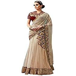 festival Bollywood Georgette Latest Party Wear Wedding Bridal Lehanga choli Saree Sari Embroidered Blouse Piece