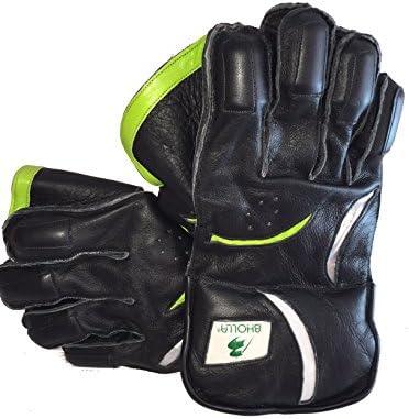 Cricket Wicket manteniendo guantes, piel auténtica, pulpo de goma Palm