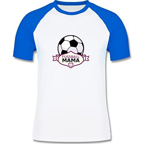Fußball - Fußball Mama - zweifarbiges Baseballshirt für Männer Weiß/Royalblau