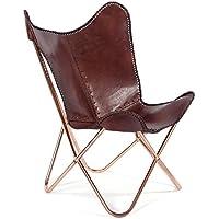 "Design Sessel""Oklahoma""   Braun, Echtleder, 95 cm   Wohnzimmerstuhl, Ledersessel preisvergleich bei kinderzimmerdekopreise.eu"