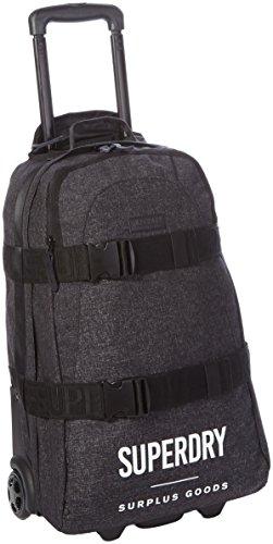 Superdry Surplus Goods Case, Bolsos de mano Hombre, Nero (Black Marl), 42.0x55.0x18.0 cm (W x H L)