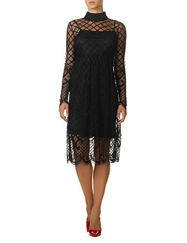 Glamorous Women's Women's Black Lace Dress 100% Polyester Black