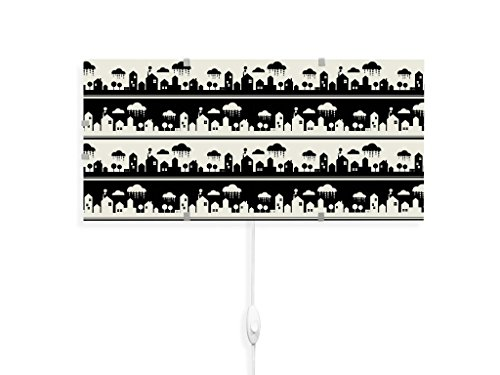 yourdea - Kinderzimmer Wechsel Bild für IKEA GYLLEN Wandleuchte 56cm mit Motiv: Regenwetter