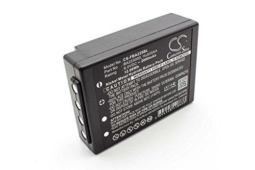 vhbw Batería MiMH 2000mAh (6V) para mando a distancia/control remoto gruas HBC Radiomatic Eco, Spectrum 1, Spectrum 2, Spectrum A, Spectrum B