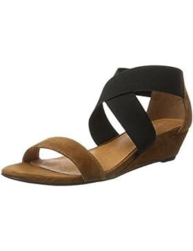 Bianco Damen Sandale mit Elastik und Kleinem Keil 20-49343 Offene