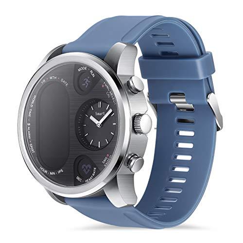 WOOLIY Reloj del Deporte Reloj Impermeable al Aire Libre del Reloj Elegante, Modo de múltiples Funciones, para el Funcionamiento de Seguimiento, Senderismo, Monitor de Ritmo cardíaco