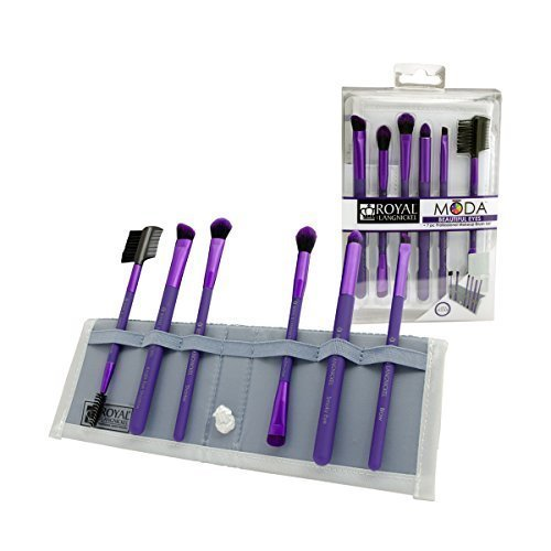 Royal Brush Moda Beautiful Eyes Brush Set and Case, Purple by Royal Brush