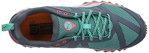 Puma Faas 500 Tr, Chaussures de trail homme Vert (Pool Green/Silver Metallic)