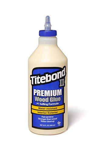Titebond II Premium Holzleim, wasserfester Holzkleber für den Profigebrauch, Größe: 946 ml, 1 Stück, 500-5 - Ca Titebond