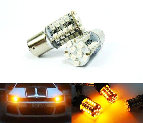 Preisvergleich Produktbild 2x Bernstein 581PY21W BAU15s Glühbirne 40SMD LED Standlicht Blinker vorne hinten Kontrollleuchte Luffy