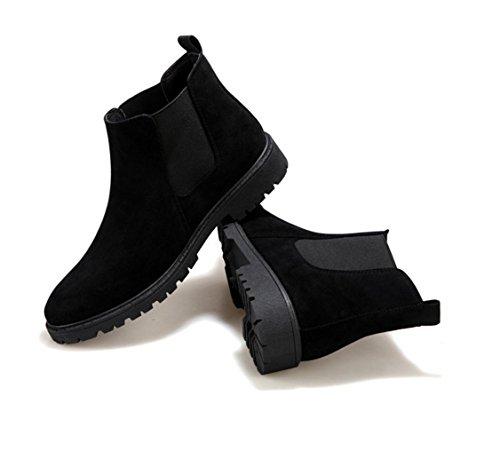 WZGNew England Herbst und Winter Herren Komfort Martin Stiefel männliche Aufladungen Art und Weise High-Top-Stiefel Stiefel koreanische Version Black