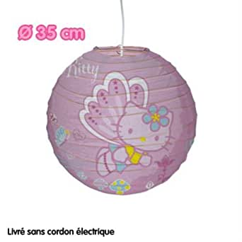 HELLO KITTY SUSPENSION PLAFONNIER ENFANT PAPIER