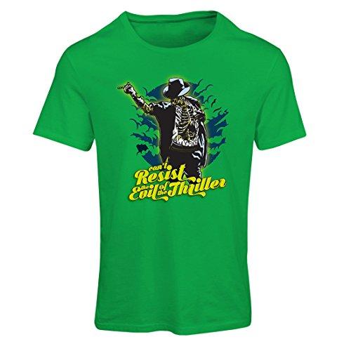 Frauen T-Shirt Vintage Band Kleidung, 80er Konzert Waren (Small Grün Mehrfarben) (Kalender Satan)
