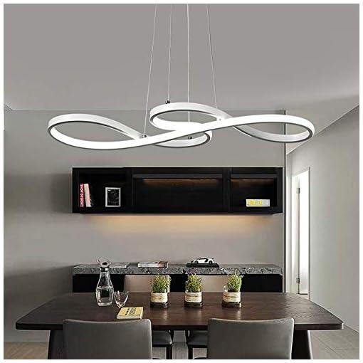 Lampada a sospensione Simboli musicali Design LED Lampadario Bianco/Lampada a sospensione in acrilico e alluminio sala da pranzo, soggiorno; Cucina, [classe energetica A ++]