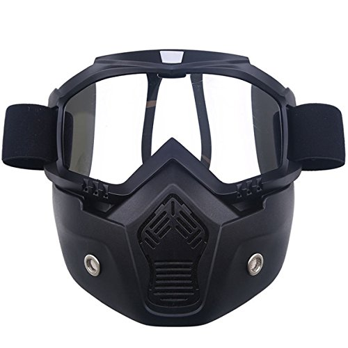 POSSBAY Motorrad Maske abnehmbaren Schutzbrille Wind Staubschutz Wintersport Brille Dirtbike Off Road Racing Cross Schutzbrille