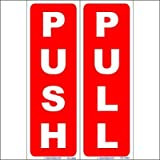 #7: SignageShop High quality Vinyl PUSH PULL sticker set Sign (Pack of 20 set)