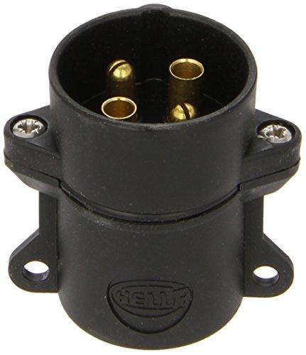HELLA 8JA 001 920-011 Stecker, Schraubkontakt mit Zugentlastung, 4 –polig, bei 24 V Belastung 16 A