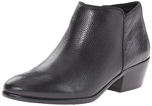 (Sam Edelman Women's Petty Ankle Bootie, Black Leather, 5 M US)