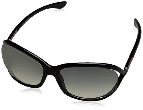 Tom Ford Damen FT0008 01B 61 Sonnenbrille, Schwarz (Nero Lucido/Fumo Grad),