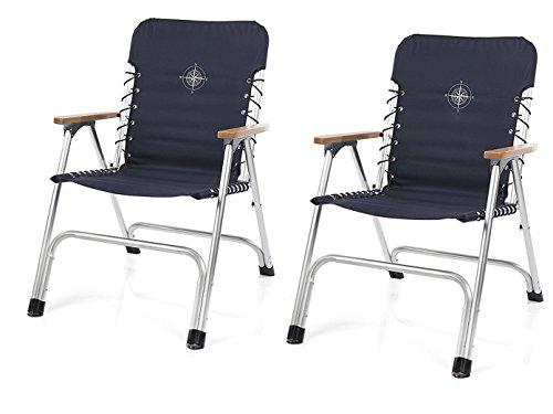CAMPART TRAVEL Unbekannt Juego de 2–Estilo Completo, Barco Plegable sillas con reposabrazos...